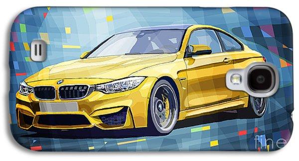 Automotive Galaxy S4 Cases - BMW M4 Blue Galaxy S4 Case by Yuriy Shevchuk