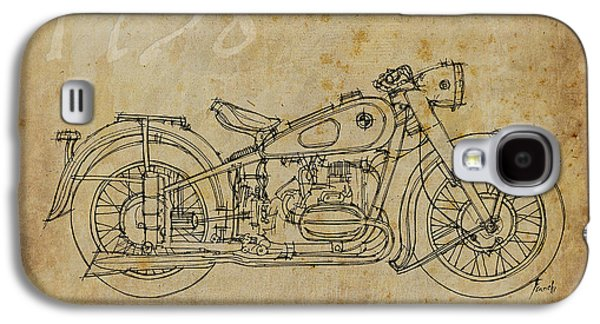 Industrial Drawings Galaxy S4 Cases - Bmw R51 1938 Galaxy S4 Case by Pablo Franchi