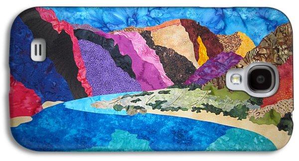 Transportation Tapestries - Textiles Galaxy S4 Cases - Boat Beach near Phantom Ranch Galaxy S4 Case by Deb  Goepfrich