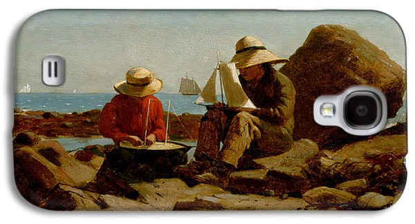 Toy Boat Galaxy S4 Cases - Boat Builders Galaxy S4 Case by Winslow Homer