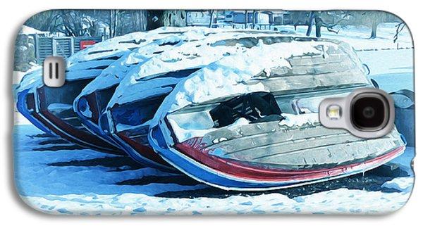 Rowboat Digital Art Galaxy S4 Cases - Boat Hire on Holiday Galaxy S4 Case by Jutta Maria Pusl