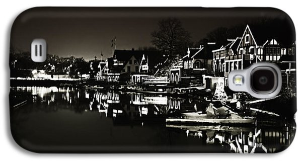 Row Boat Digital Galaxy S4 Cases - Boat House Row - In the Dark of Night Galaxy S4 Case by Bill Cannon