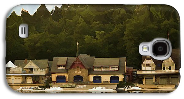 Canoe Mixed Media Galaxy S4 Cases - Boat House Row Galaxy S4 Case by Trish Tritz