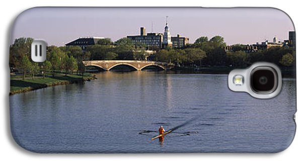 Charles River Galaxy S4 Cases - Boat In A River, Charles River, Boston Galaxy S4 Case by Panoramic Images