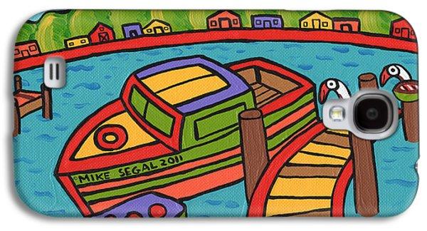 Cedar Key Galaxy S4 Cases - Boat In The Bayou - Cedar Key Galaxy S4 Case by Mike Segal