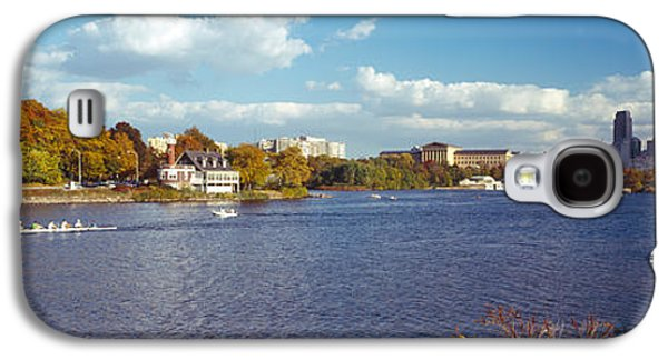 Schuylkill Galaxy S4 Cases - Boat In The River, Schuylkill River Galaxy S4 Case by Panoramic Images