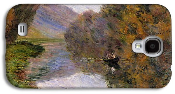 French Signs Galaxy S4 Cases - Boat on the Seine near Jeufosse Galaxy S4 Case by Claude Monet