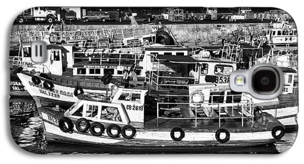 Boats In Harbor Galaxy S4 Cases - Boat Reflections in Valparaiso Galaxy S4 Case by John Rizzuto