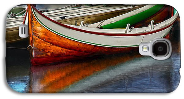 Row Boat Digital Galaxy S4 Cases - Boat Galaxy S4 Case by Rick Mosher