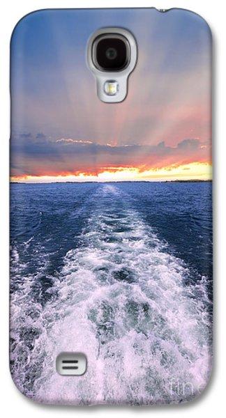 Sun Galaxy S4 Cases - Boat wake on Georgian Bay  Galaxy S4 Case by Elena Elisseeva