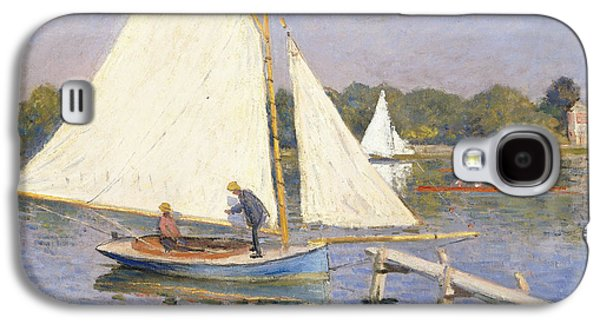 Boaters Galaxy S4 Cases - Boaters at Argenteuil Galaxy S4 Case by Claude Monet