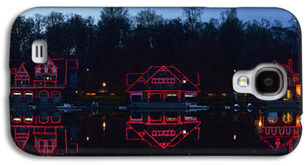 Schuylkill Galaxy S4 Cases - Boathouse At The Waterfront, Schuylkill Galaxy S4 Case by Panoramic Images