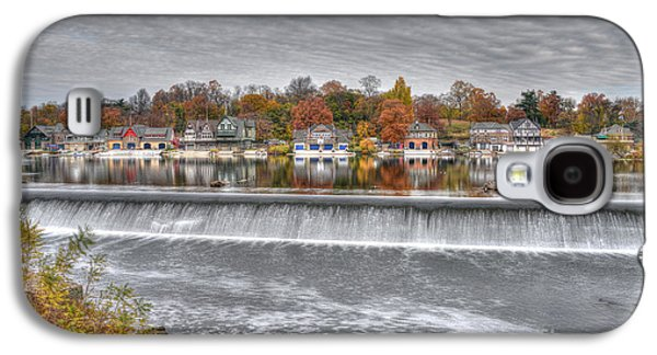 Williams Dam Galaxy S4 Cases - Boathouse Row Across the Dam Galaxy S4 Case by Mark Ayzenberg