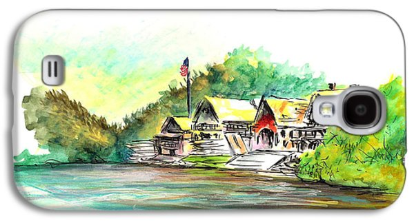 Phillies Paintings Galaxy S4 Cases - Boathouse Row Galaxy S4 Case by Joseph Levine