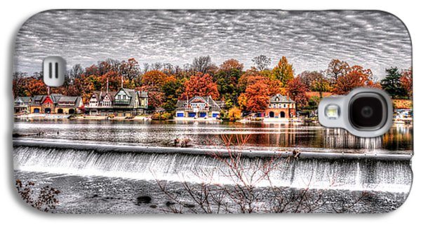 Williams Dam Galaxy S4 Cases - Boathouse Row Under the Clouds Galaxy S4 Case by Mark Ayzenberg