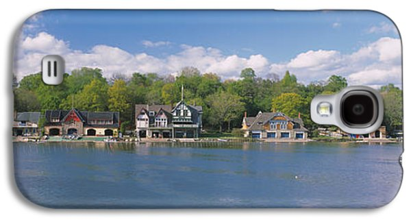 Schuylkill Galaxy S4 Cases - Boathouses Near The River, Schuylkill Galaxy S4 Case by Panoramic Images