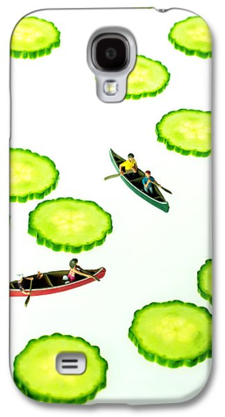 Toy Boat Galaxy S4 Cases - Boating among cucumber slices miniature art Galaxy S4 Case by Paul Ge