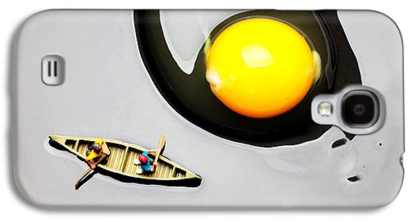 Toy Boat Galaxy S4 Cases - Boating around egg little people on food Galaxy S4 Case by Paul Ge