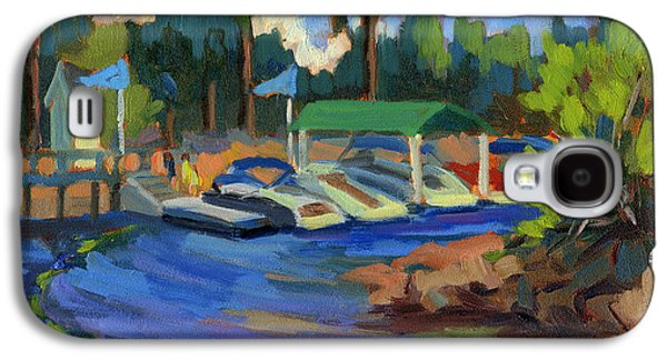 Waterscape Galaxy S4 Cases - Boating at Lake Arrowhead Galaxy S4 Case by Diane McClary