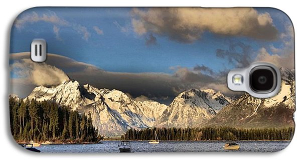 Reflections In Water Galaxy S4 Cases - Boating In The Tetons Galaxy S4 Case by Dan Sproul