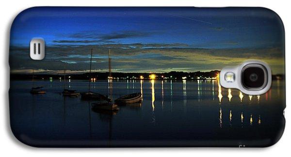 Docked Sailboat Galaxy S4 Cases - Boating - The Marina at Night Galaxy S4 Case by Paul Ward