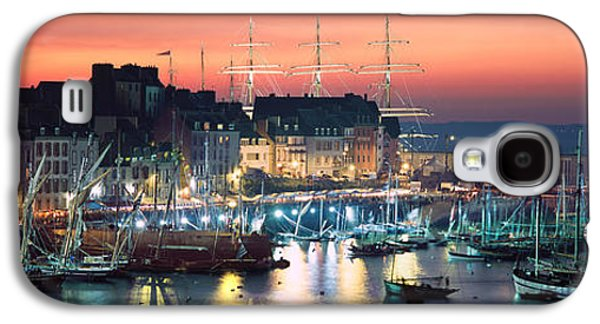 Boats At A Harbor, Rosmeur Harbour Galaxy S4 Case by Panoramic Images