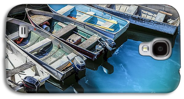 Rowboat Galaxy S4 Cases - Boats at Bar Harbor Maine Galaxy S4 Case by Diane Diederich
