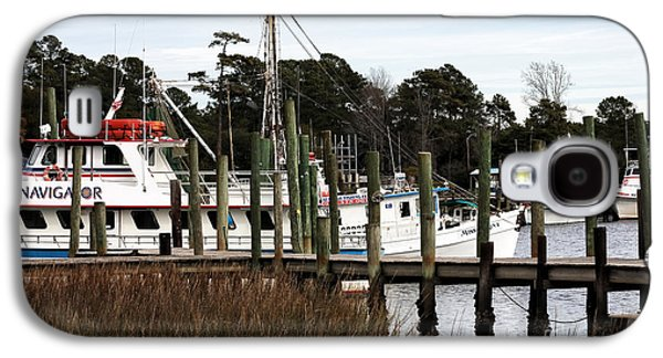 Boats At Dock Galaxy S4 Cases - Boats at Little River Galaxy S4 Case by John Rizzuto