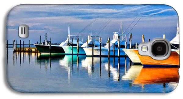 Recently Sold -  - Digital Galaxy S4 Cases - Boats at Oregon Inlet Outer Banks II Galaxy S4 Case by Dan Carmichael