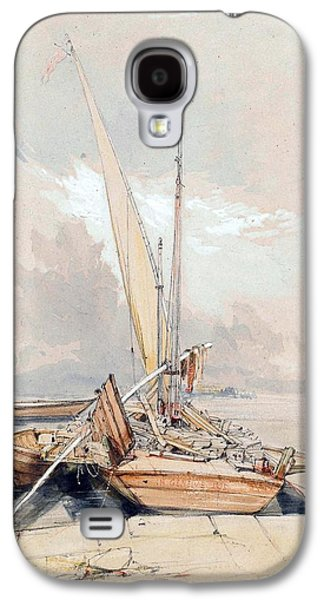 Docked Boat Galaxy S4 Cases - Boats at Quayside Lake Geneva Galaxy S4 Case by James Holland