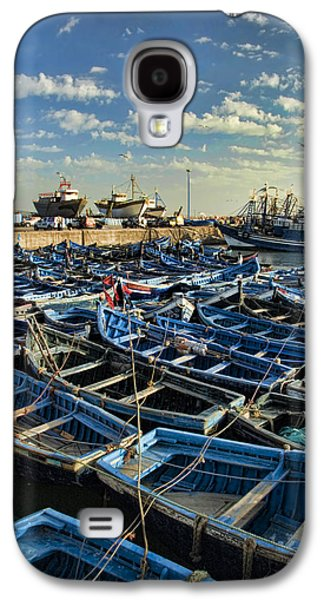 African Heritage Galaxy S4 Cases - Boats in Essaouira Morocco harbor Galaxy S4 Case by David Smith
