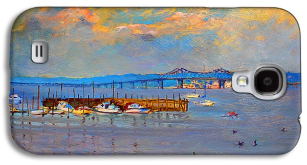 Harbor Paintings Galaxy S4 Cases - Boats in Piermont harbor NY Galaxy S4 Case by Ylli Haruni