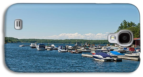 Boats On Water Galaxy S4 Cases - Boats In The Sea, Rose Point Marina Galaxy S4 Case by Panoramic Images