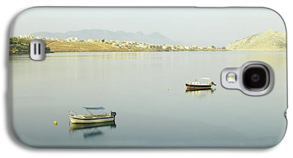 Boats On Water Galaxy S4 Cases - Boats In The Sea With A City Galaxy S4 Case by Panoramic Images