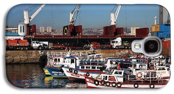 Boats In Harbor Galaxy S4 Cases - Boats in Valparaiso Galaxy S4 Case by John Rizzuto