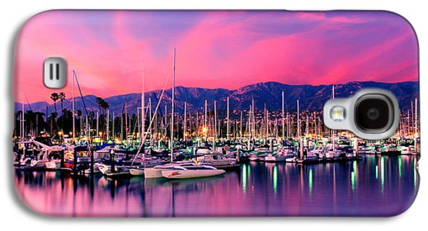 Mast Galaxy S4 Cases - Boats Moored In Harbor At Sunset, Santa Galaxy S4 Case by Panoramic Images