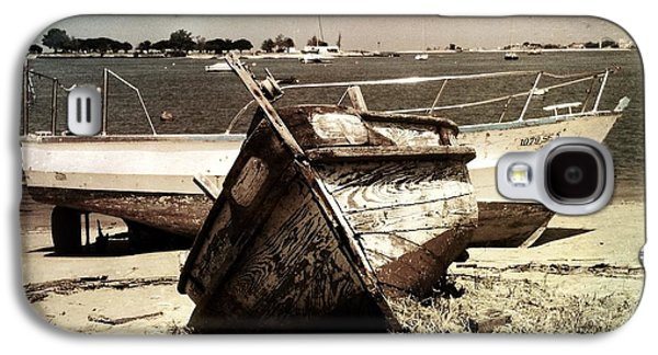 Docked Sailboat Galaxy S4 Cases - Boats On The Bay Galaxy S4 Case by Marco Oliveira