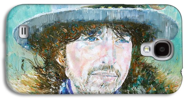Bob Dylan Paintings Galaxy S4 Cases - Bob Dylan Oil Portrait Galaxy S4 Case by Fabrizio Cassetta