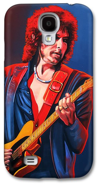Bob Paintings Galaxy S4 Cases - Bob Dylan Galaxy S4 Case by Paul Meijering