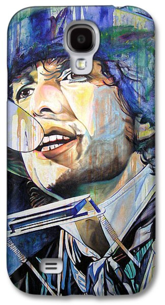 Bob Dylan Paintings Galaxy S4 Cases - Bob Dylan Tangled up in Blue Galaxy S4 Case by Joshua Morton