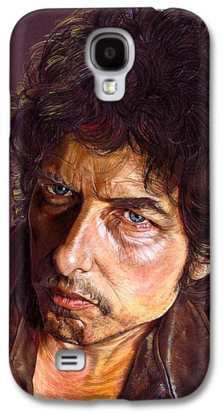 Bob Dylan Paintings Galaxy S4 Cases - Bob Dylan Galaxy S4 Case by Tim  Scoggins