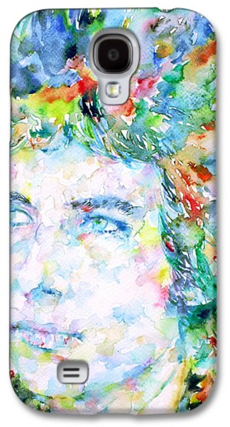 Bob Dylan Paintings Galaxy S4 Cases - Bob Dylan Watercolor Portrait.3 Galaxy S4 Case by Fabrizio Cassetta