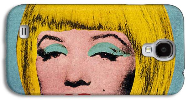 Hairstyle Digital Galaxy S4 Cases - Bob Marilyn  Galaxy S4 Case by Filippo B