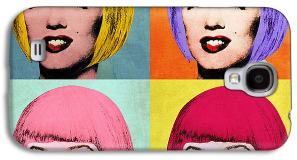 Hairstyle Digital Galaxy S4 Cases - Bob Marilyn  set of 4 Galaxy S4 Case by Filippo B
