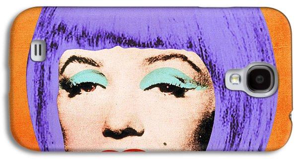 Hairstyle Digital Galaxy S4 Cases - Bob Marilyn Variant 3 Galaxy S4 Case by Filippo B