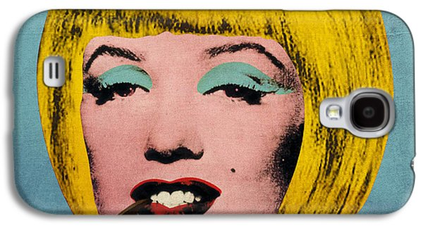 Hairstyle Digital Galaxy S4 Cases - Bob Marilyn  With Surreal Pipe Galaxy S4 Case by Filippo B