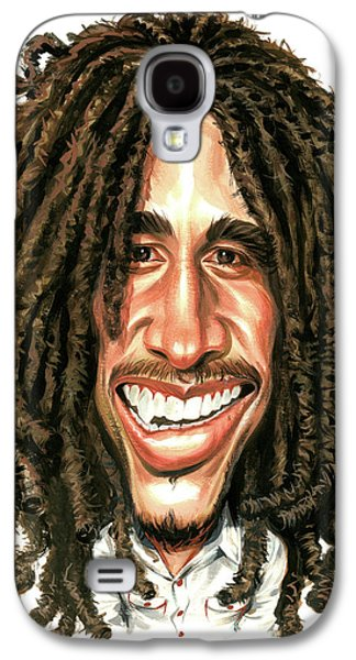 Jamaican Paintings Galaxy S4 Cases - Bob Marley Galaxy S4 Case by Art
