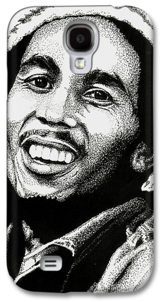 Music Drawings Galaxy S4 Cases - Bob Marley Galaxy S4 Case by Cory Still