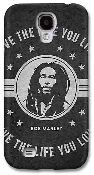 Autographed Galaxy S4 Cases - Bob Marley - Dark Galaxy S4 Case by Aged Pixel
