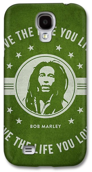 Jamaican Galaxy S4 Cases - Bob Marley - Green Galaxy S4 Case by Aged Pixel